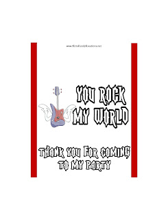 You Rock My World Rock Band Candy Bar Printable