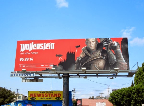 Wolfenstein video game billboard