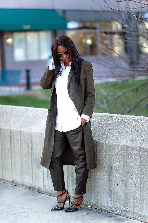 Asos Military style maxi coat