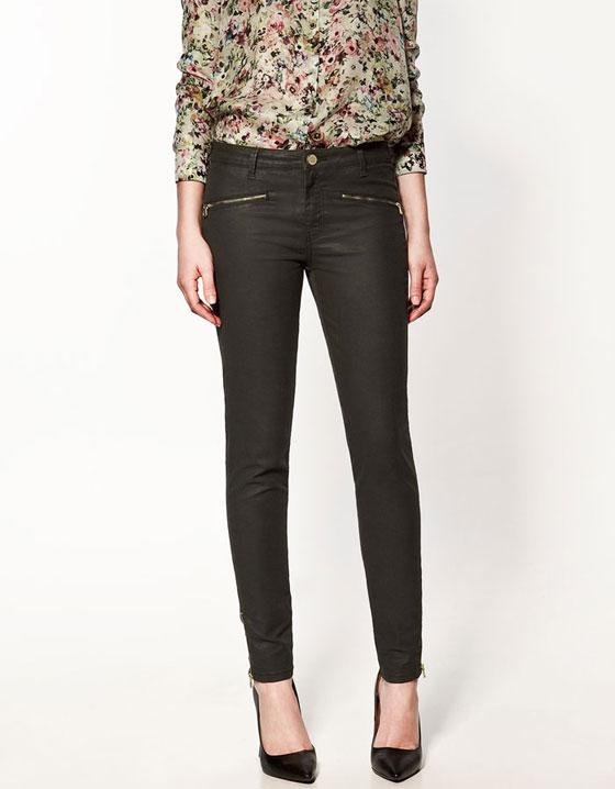 Pantalones cuero Zara