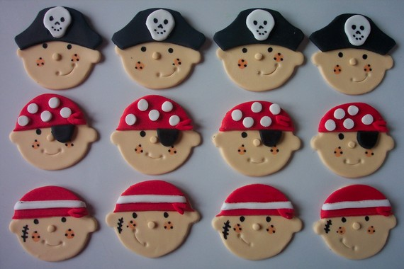 Edible Fondant Cupcake Toppers