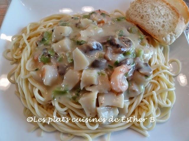 Les plats cuisin s de esther b spaghetti aux fruits de mer - Spaghetti aux fruits de mer ...
