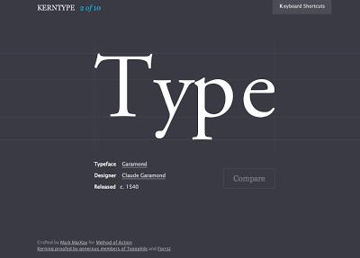 kern type, juego tipografia, tipography game