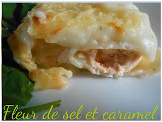 Cannellonis aux deux saumons et ricotta