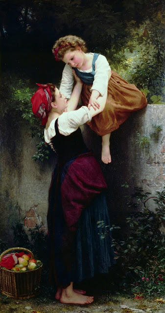 cute girl,genre painting,Bouguereau