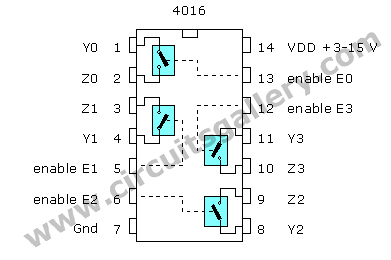 CD4016+pinout Binary Amplitude Shift Keying (BASK) or On Off Keying (OOK) Practical Circuit using CD 4016
