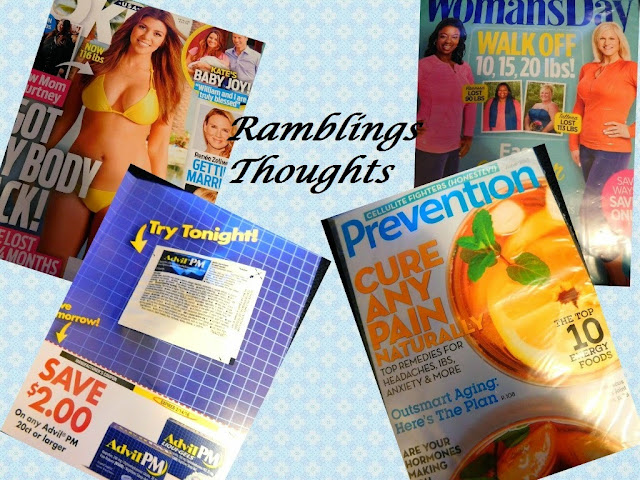 Ramblings Thoughts, Free, Mail, Coupons, Samples, Products, Magazines, Ok!, Woman's Day, Prevent, Advil PM