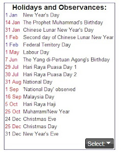 Time and Date Calendar Year 2014