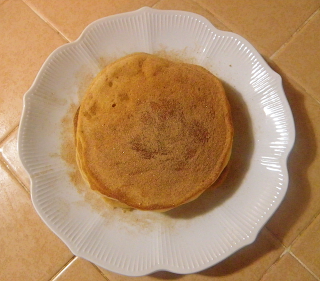 Stack of Pancakes Sprinkled with Cinnamon Sugar