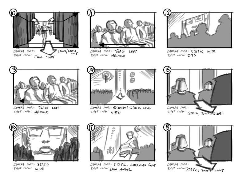 Storyboarding  Ransom Planet