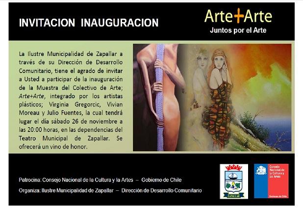 EXPOSICION ARTE+ARTE EN ZAPALLAR