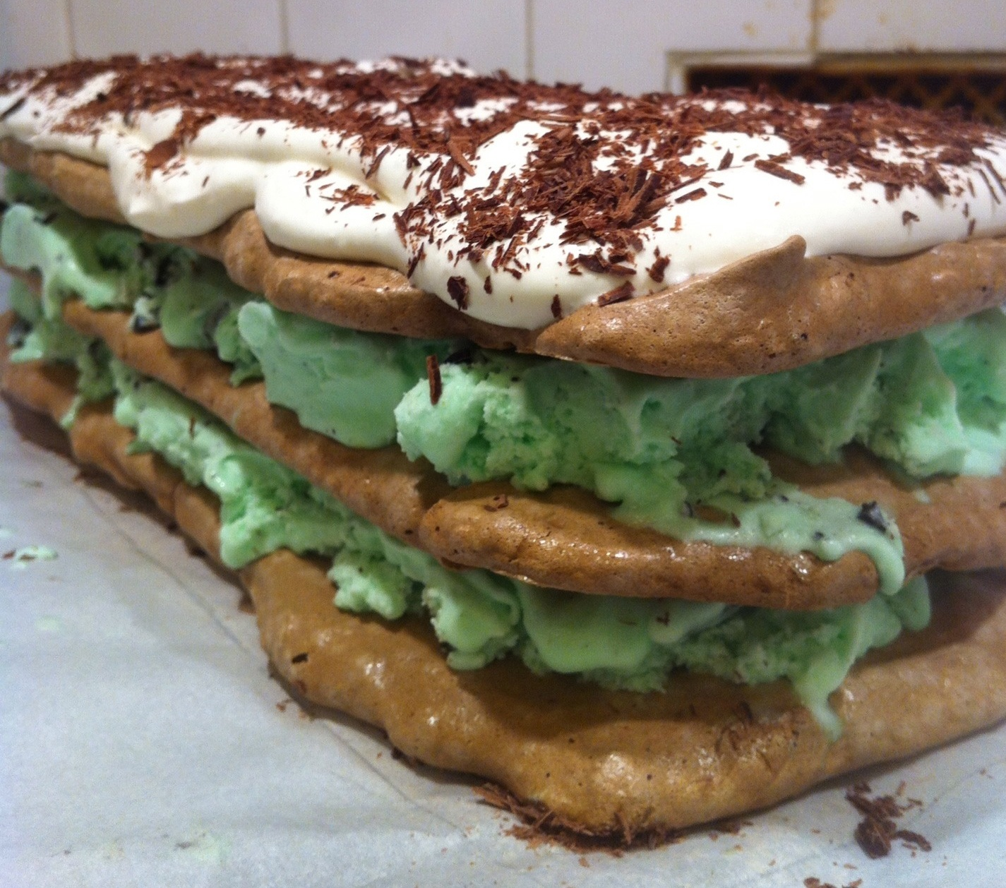 SugarScape: Chocolate Meringue Mint Chip Ice Cream Cake