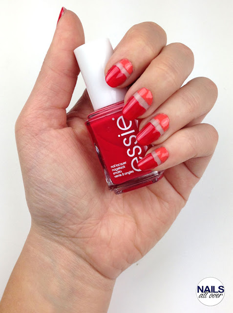Sommer Nageldesign mit Essie Too Too Hot Nailsallover