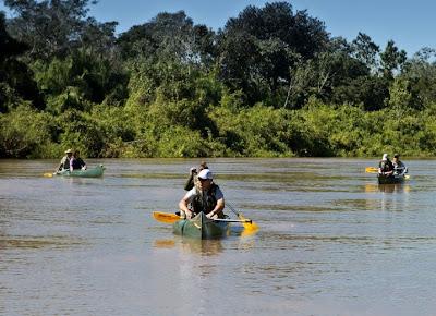 Passeio de Canoa Canadense no Refúgio Ecológico Caiman no Pantanal