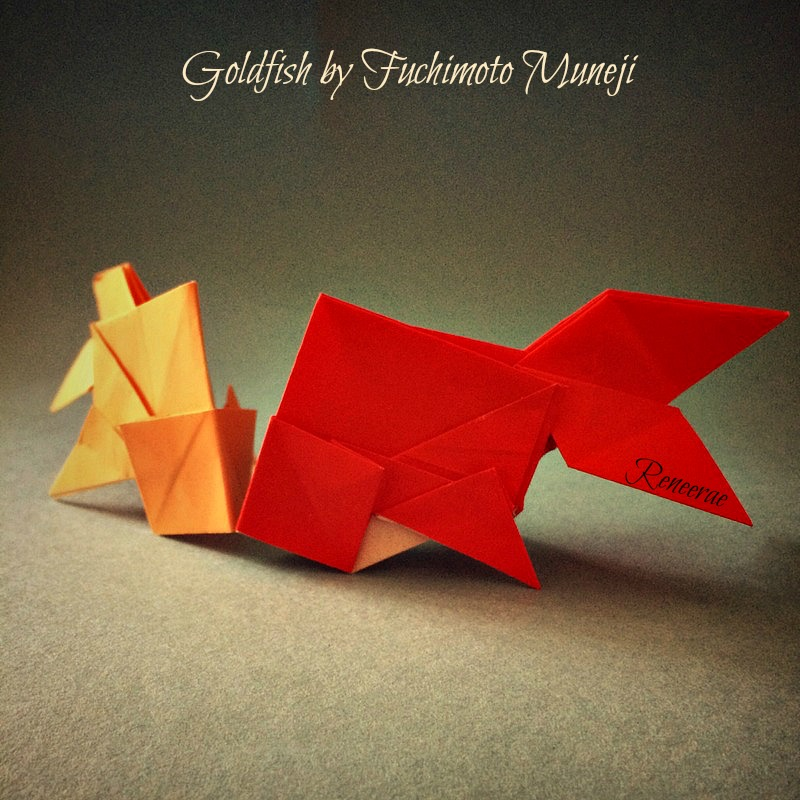 Lifes Simple Pleasure Origami Creations Gold Fish For Good Luck