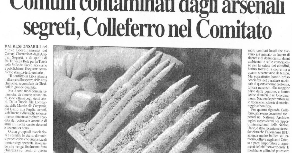 Rassegna Stampa Retuvasa Colleferro E Retuvasa Nel