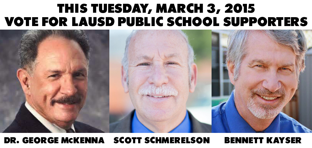 Vote for Dr. George McKenna, Scott Schmerelson, and Bennett Kayser