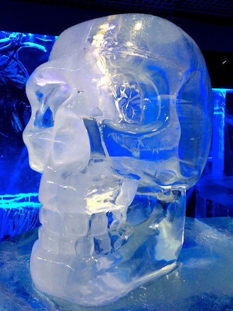 ice skull at Ice bar London
