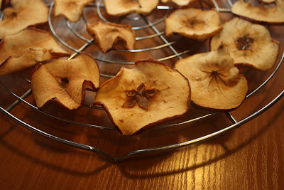 Dried apples for Christmas decorating!