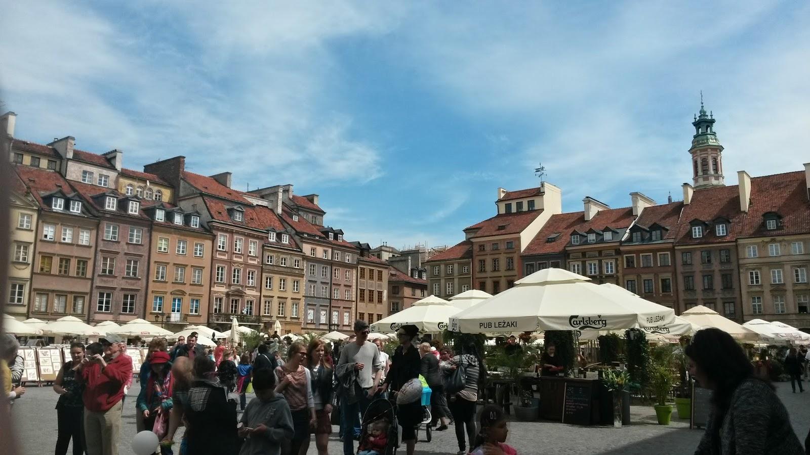 Rynek Starego Miasta Old Town Warsaw varşova
