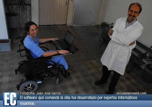 Discapacidad y salud dise an una silla de ruedas que se for Silla que se mueve