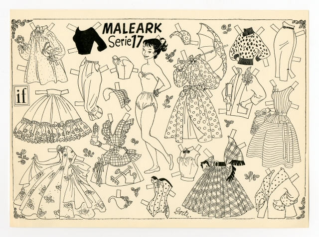 Miss Missy Paper Dolls: Maleark Series Q Is For Coloring Page