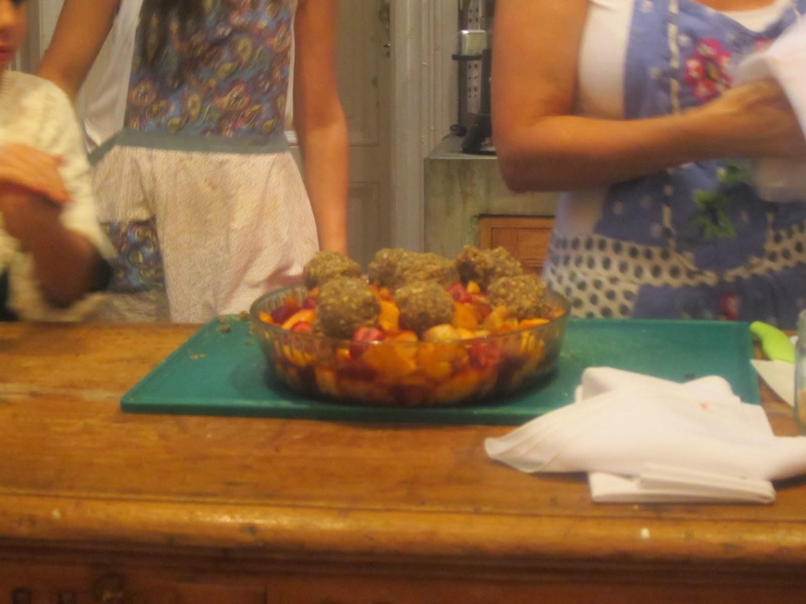 Cobbler de frutas de estación