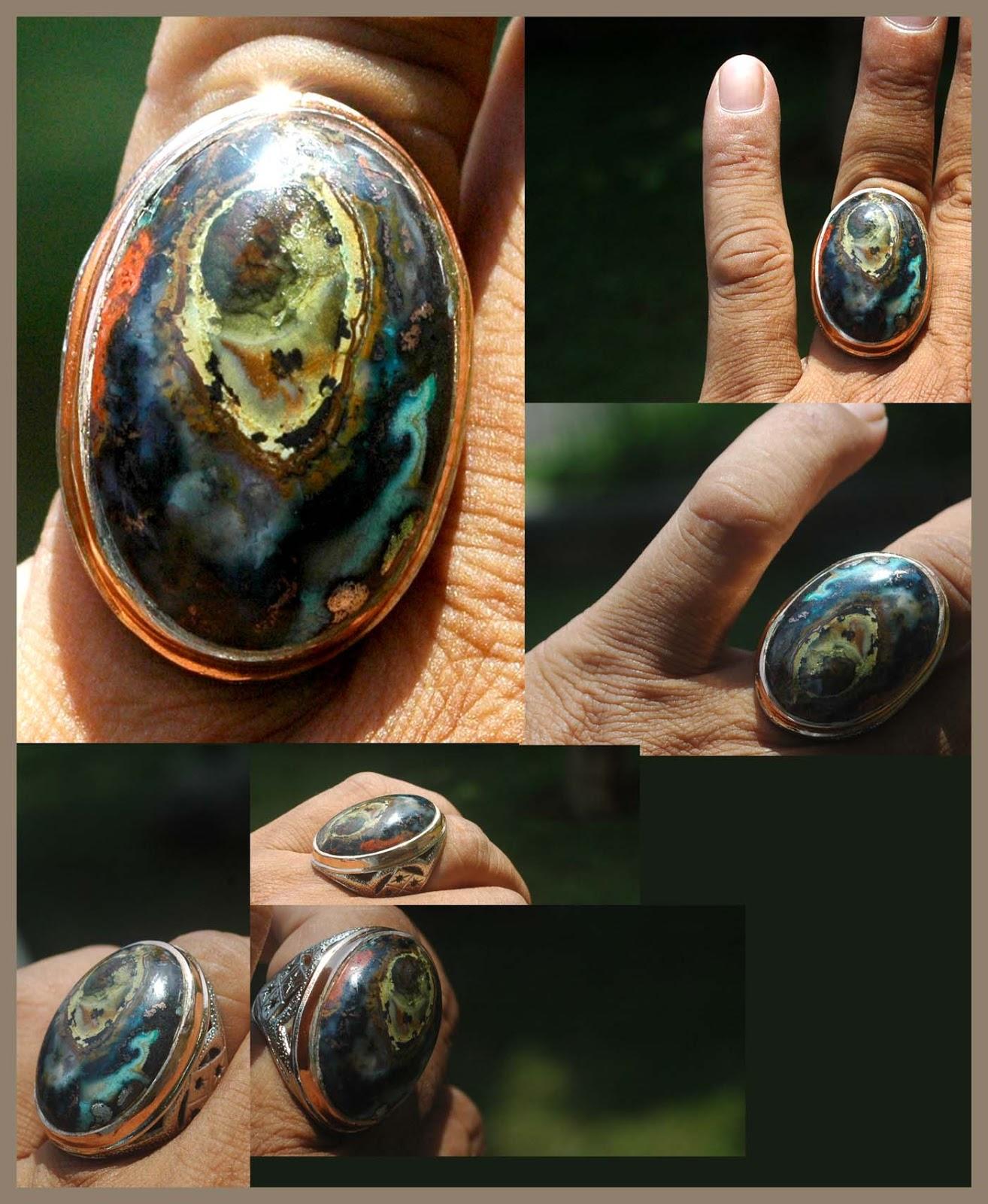 Batu bacan ini memiliki warna2 yang unik dan enak untuk dipandang dan ...