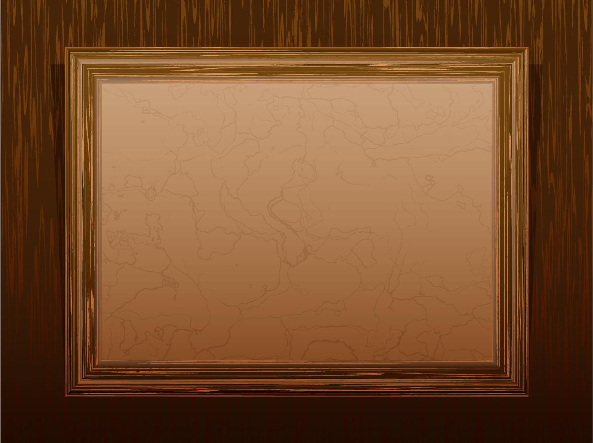 風合いの良い木製フレーム classic wood frame イラスト素材