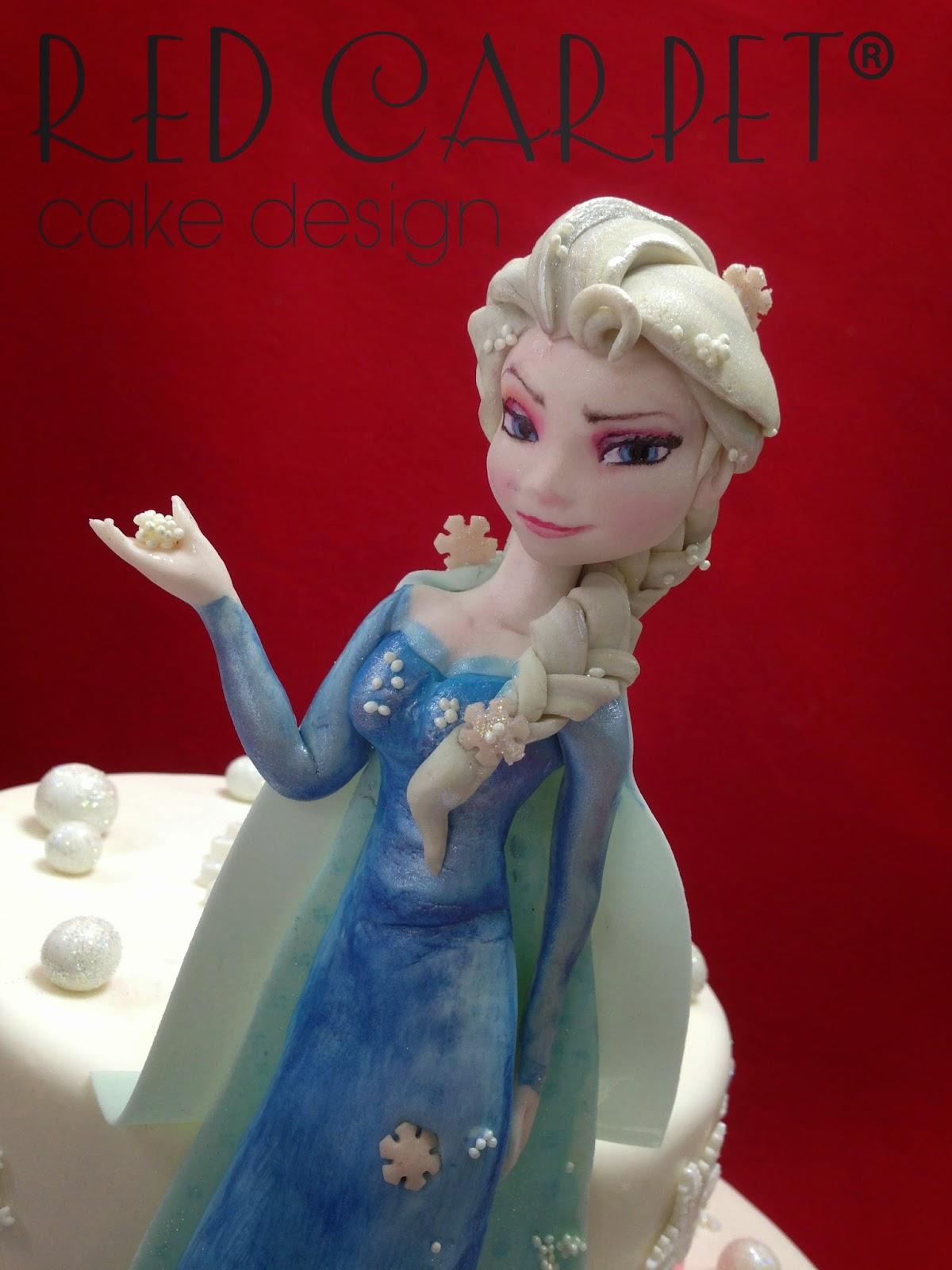 Frozen Princess Elsa By Red Carpet Cake Design Red Carpet Cake