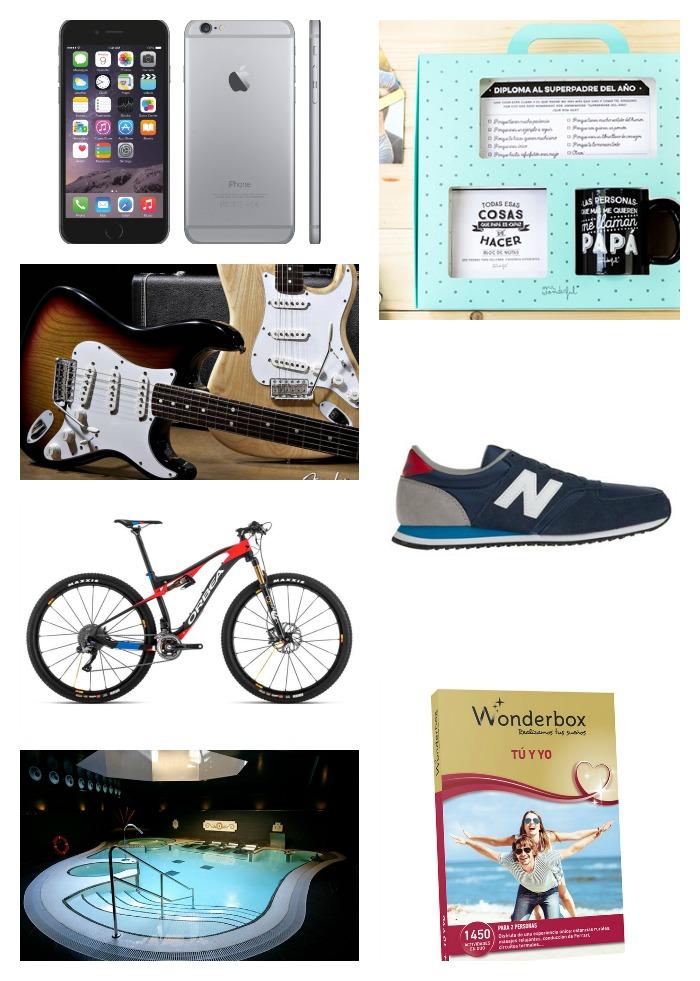 iphone-guitarra Fender, zapatillas, bicicicleta