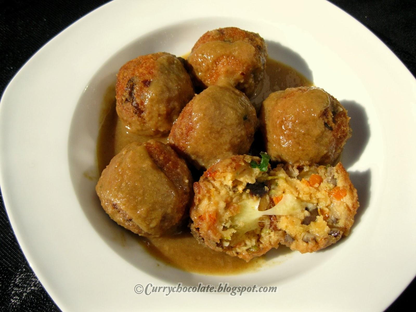 Curry y chocolate alb ndigas de verdura con queso - Albondigas con verduras ...