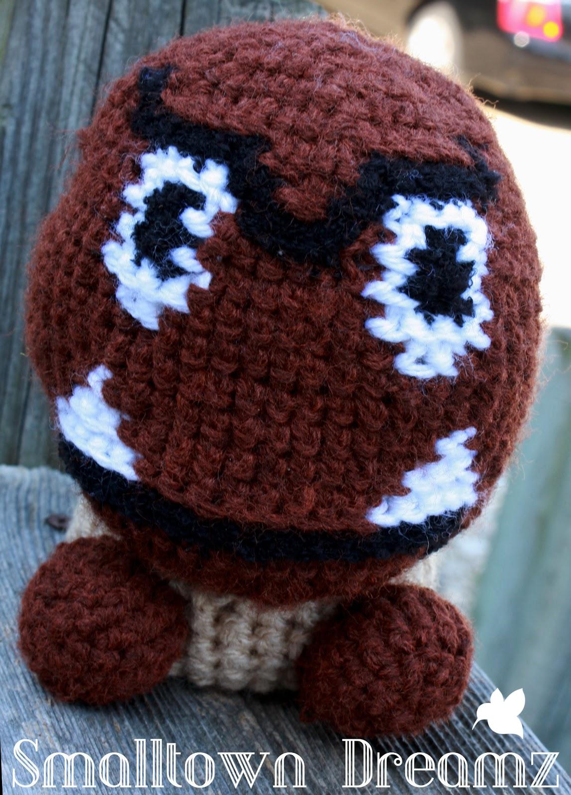 Smalltown Dreamz: Mario Inspired Goomba Crochet Pattern