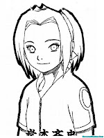 Lembar Mewarnai Gambar Sakura Tersenyum