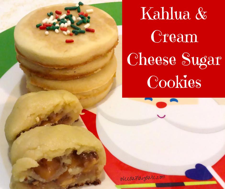 Kahlua and Cream Cheese Sugar Cookie Recipe plus Hidden Candy Cookie
