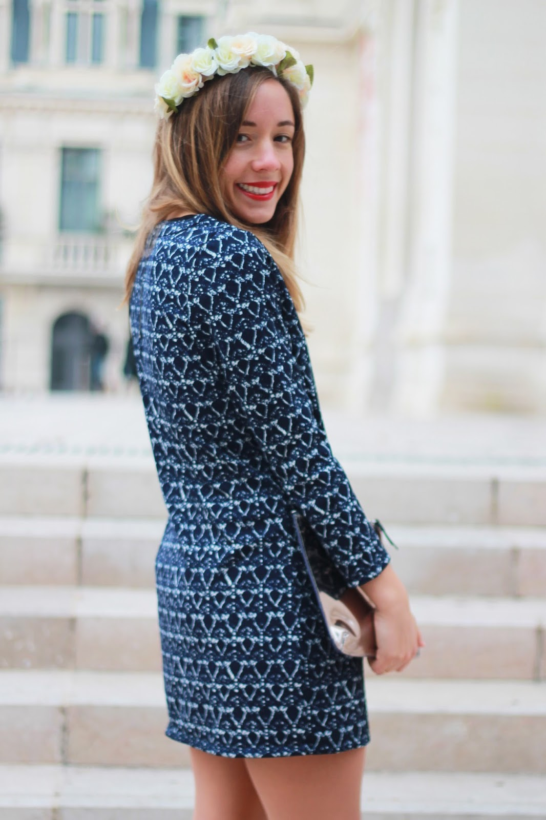 Robe Vero Moda imprimée bleue