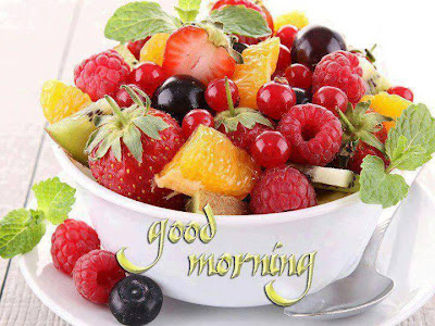 Good morning wallpaper with fruits