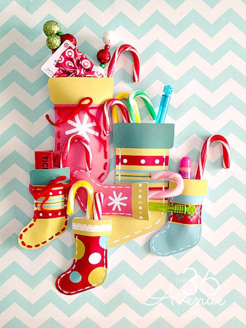 Calcetines navideños imprimibles gratis1
