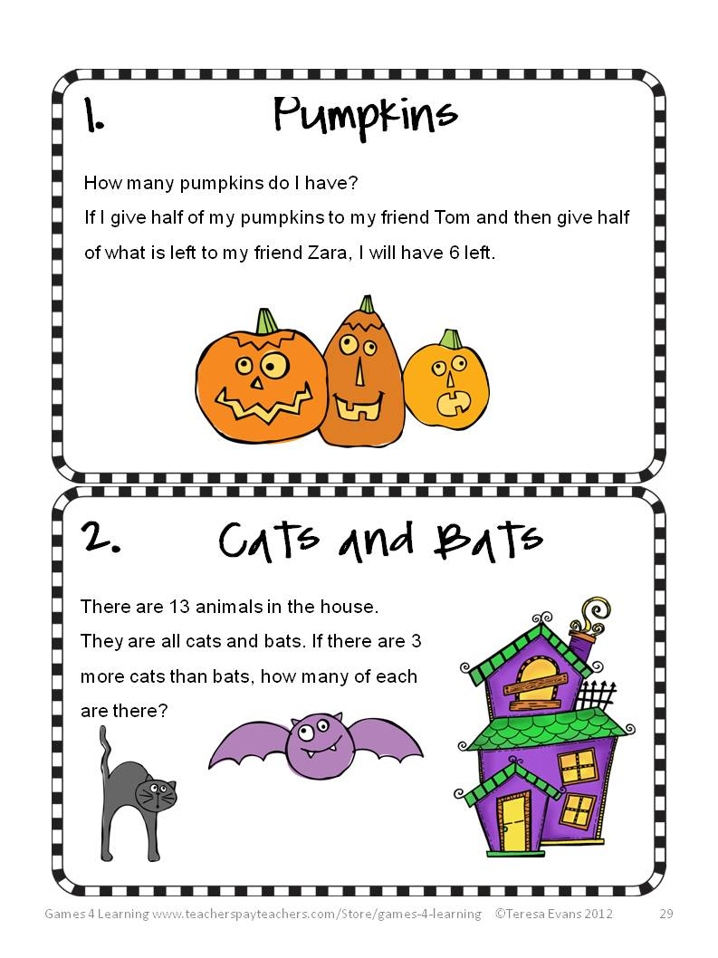 math worksheet : fun games 4 learning halloween math fun! : Mathbrain