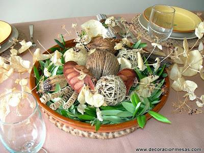 decoracion mesas centro mesa otoño