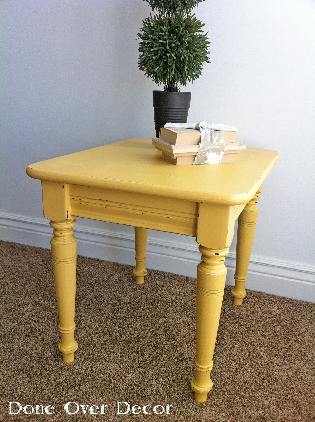a painted nest for sale yellow end table. Black Bedroom Furniture Sets. Home Design Ideas