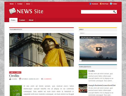 NewsSite Blogger Theme
