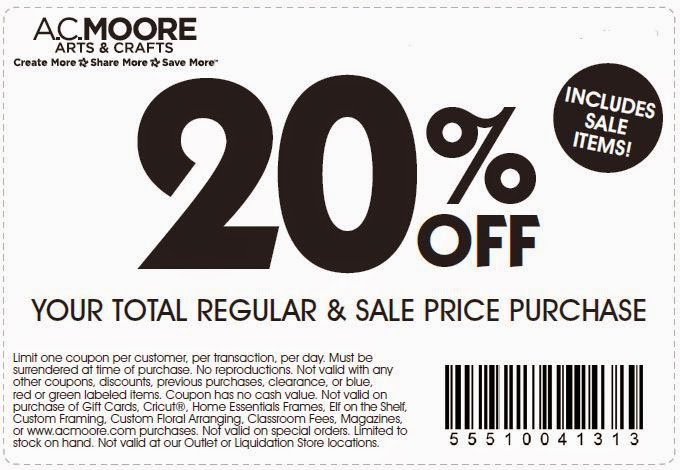 graphic about Ac Moore Coupon Printable identified as AC Moore Printable Discount coupons Nov 2014