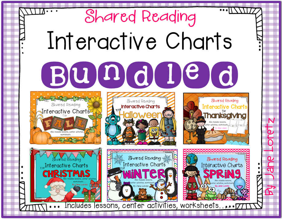 http://www.teacherspayteachers.com/Product/Shared-Reading-Interactive-Charts-Bundled-1421399