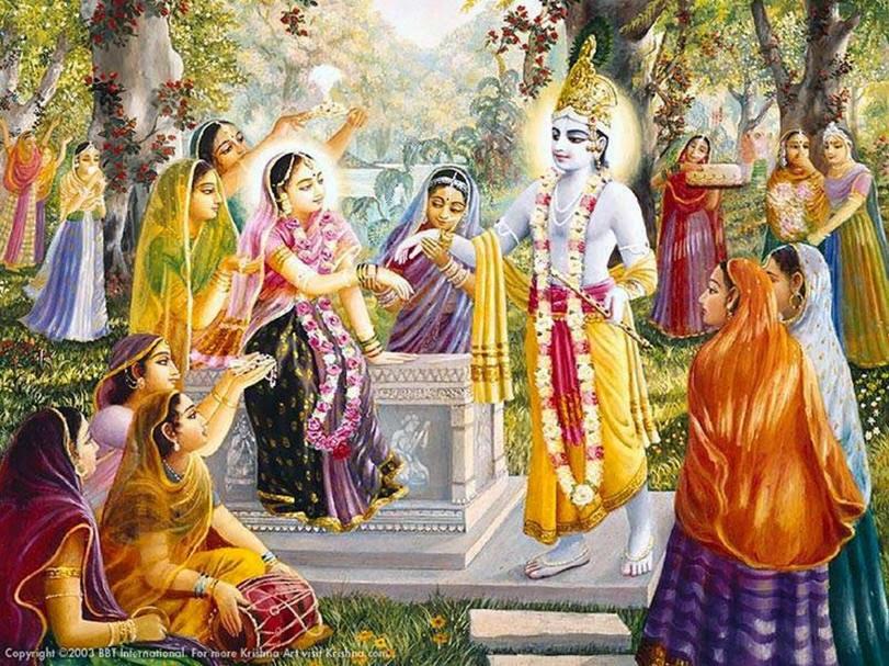 Lord Krishna And Gopis Gopis Seek Refuge in Krishna 39 s