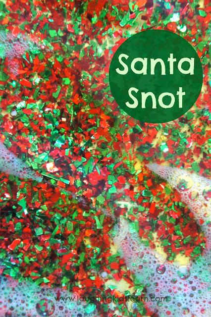 Christmas sensory fun with santa snot! Laughing Kids Learn