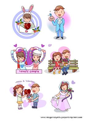 Niños y el amor para imprimir