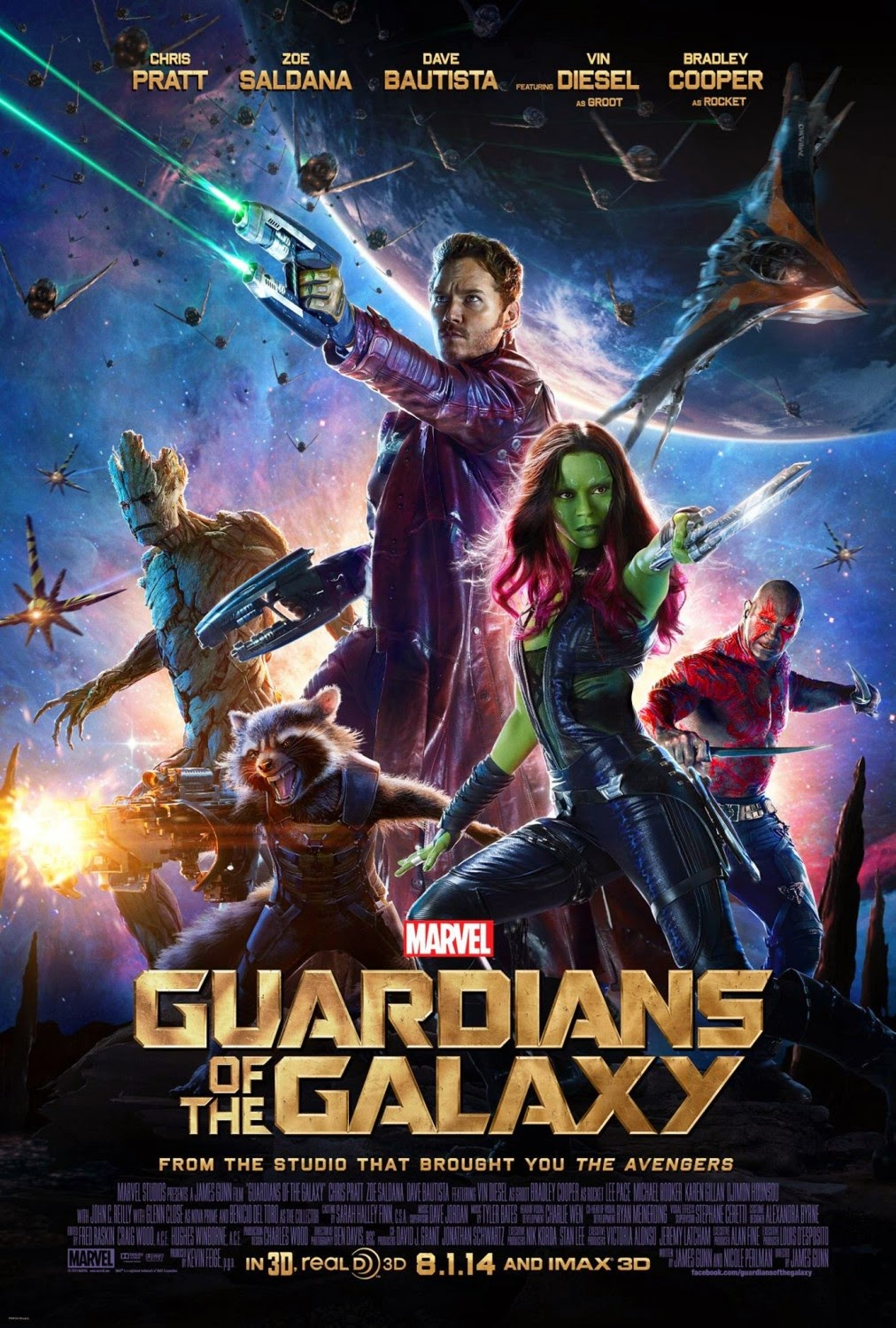 Guardians of the Galaxy Theatrical One Sheet Movie Poster