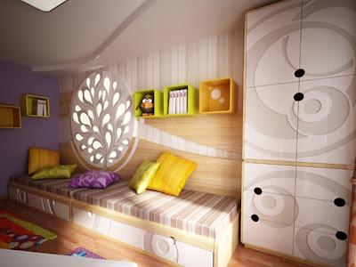 moderna habitacion dos niños