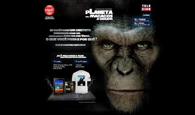 """CONCURSO CULTURAL """"TELECINE: Planeta dos Macacos – A Origem"""""""